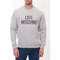 Moschino Mm105 Erkek Acık Gri Sweatshirt