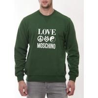 Moschino Mm110 Erkek Yesıl Sweatshirt