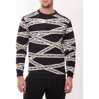 Moschino Mm113 Erkek Siyah Sweatshirt