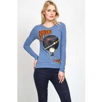 Moschino Mws-12 Kadın Mavi Sweatshirt