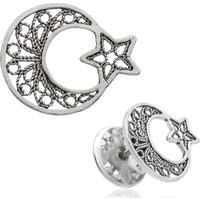 Gumush Gümüş Ay Yıldız Rozet