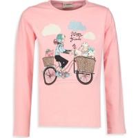 LC Waikiki Kız Çocuk Bisiklet Yaka T-Shirt