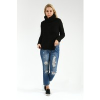 Collezione Kadın Tunik Uzun Kol Oyap Siyah