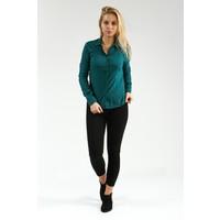 Collezione Kadın Gömlek Uzun Kol Masskk Koyu Yeşil