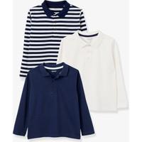 Vertbaudet Erkek Çocuk Polo Yaka 3'lü T-Shirt