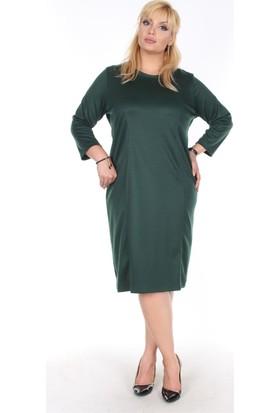 Rmg Büyük Beden Elbise Yeşil