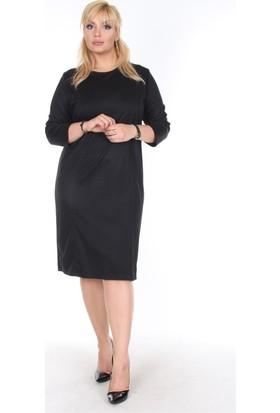 Rmg Büyük Beden Elbise Siyah