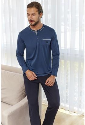 Eros Erkek Pijama Takımı İndigo