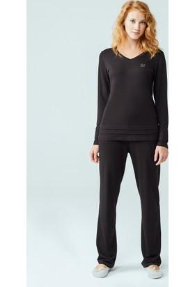 Dagi Kadın Pijama Takımı Siyah