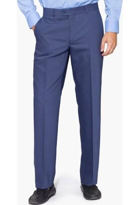 Hateko Klasik Kesim Altınyıldız Mavi Yün Kumaş Pantolon