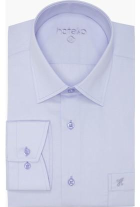 Hateko Klasik Kesim Lila Takım Elbise Gömleği