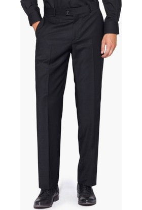 Hateko Klasik Kesim Altınyıldız Siyah %88 Yün Kumaş Pantolon