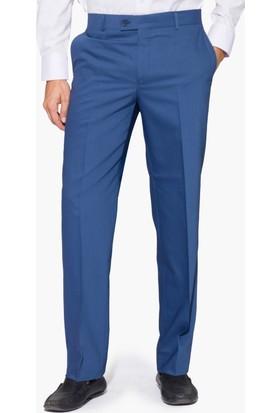 Hateko Klasik Kesim Altınyıldız Açık Mavi Yün Kumaş Pantolon