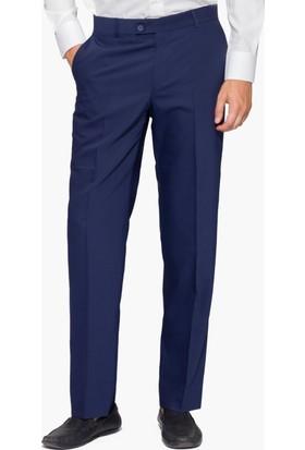 Hateko Klasik Kesim Altınyıldız Açık Lacivert Yün Kumaş Pantolon