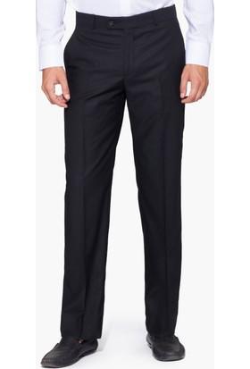 Hateko Klasik Kesim Siyah Mat Kumaş Pantolon