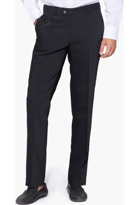 Hateko Klasik Kesim Siyah Altınyıldız Kırışmayan Yün Kumaş Pantolon