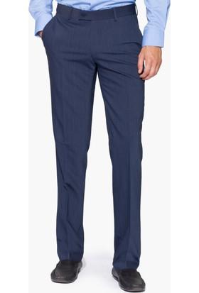 Hateko Klasik Kesim Mavigri Altınyıldız Kırışmayan Yün Kumaş Pantolon