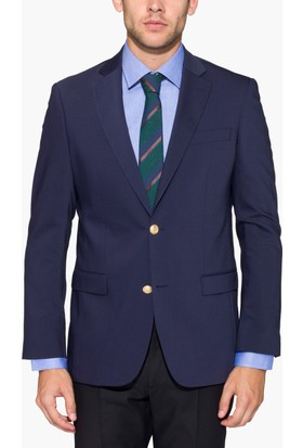 Hateko Altınyıldız 4 Drop Klasik Kesim Lacivert Yün Blazer Erkek Ceket