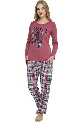 Pijama Takımı - Gül Kurusu - Dünya Yıldızı