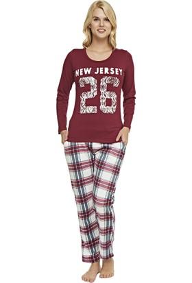 Pijama Takımı - Bordo - Dünya Yıldızı