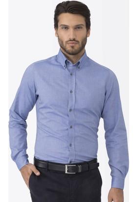 Hemington Koyu Mavi Oxford Spor Gömlek