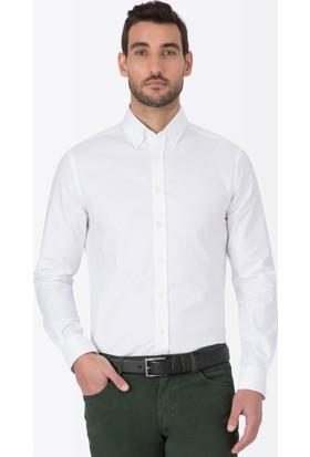 Hemington Beyaz Oxford Spor Gömlek