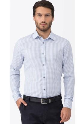 Hemington Kareli Mavi Business Gömlek