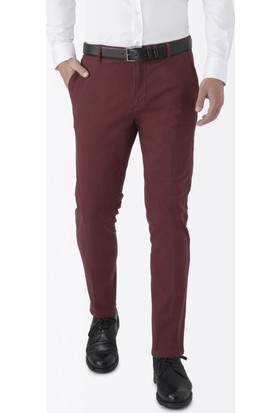 Hemington Bordo Kanvas Pantolon