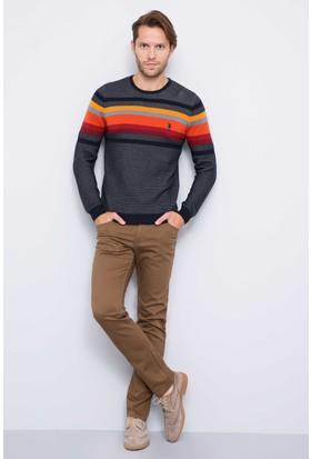 U.S. Polo Assn. Erkek Carlos7S Pantolon Kahverengi