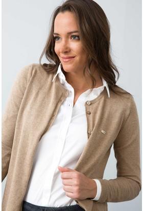 U.S. Polo Assn. Kadın Glt01-Bsk7 Hırka Kahverengi