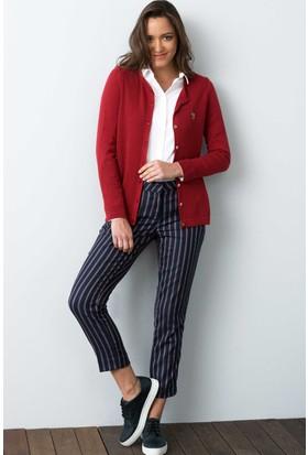 U.S. Polo Assn. Kadın Catinesk7 Hırka Kırmızı