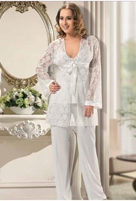 X-Ses Bayan 3'Lü Pijama Takım 2160