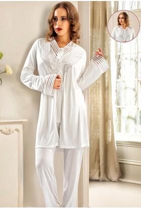 X-Ses Bayan 3'Lü Pijama Takım 2150