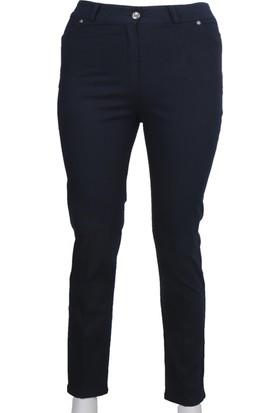 Ruşetül Süper Battal Cotton Kadın Büyük Beden Pantolon Siyah