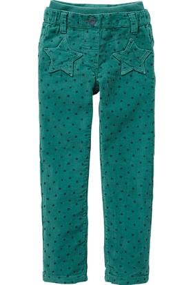 Vertbaudet Kız Çocuk Yeşil Kadife Pantolon