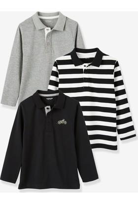 Vertbaudet Erkek Çocuk 3'lü Polo Tshirt Set