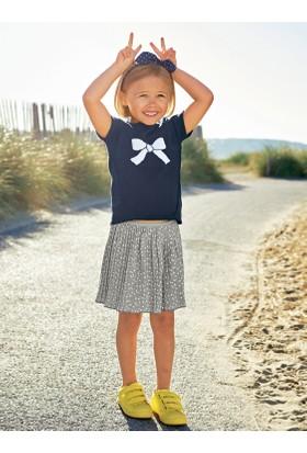 Vertbaudet Kız Çocuk Lacivert Triko Bluz