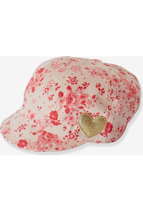 Vertbauet Kız Çocuk Pembe Çiçekli Şapka 55 - 56 cm