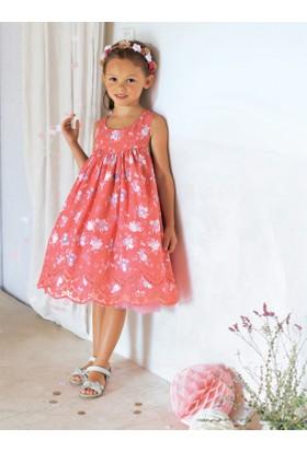 Vertbaudet Kız Çocuk Çiçekli Elbise