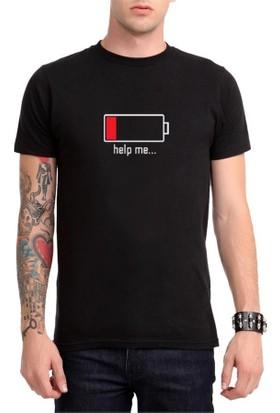 Köstebek Battery Off - Help Me Erkek T-Shirt