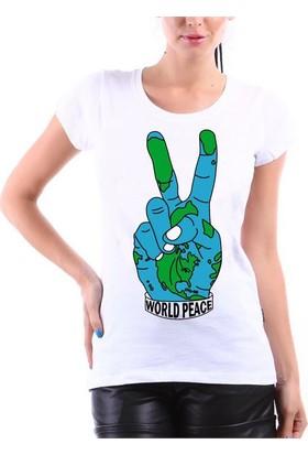 Köstebek World Peace Kadın T-Shirt