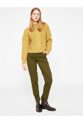 Koton Boru Paça Pantolon Yeşil