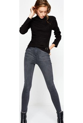 Koton Kadın Jeans Pantolon Gri (Fahriye Evcen for Koton)