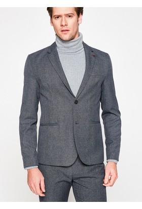 Koton Erkek Cep Detaylı Blazer Ceket Gri