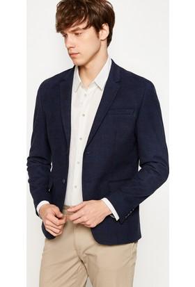 Koton Erkek Düğme Detaylı Blazer Ceket Lacivert