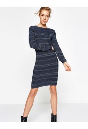 Koton Kadın Uzun Kollu Elbise Lacivert