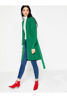 Koton Kadın Kemer Detaylı Hırka Yeşil