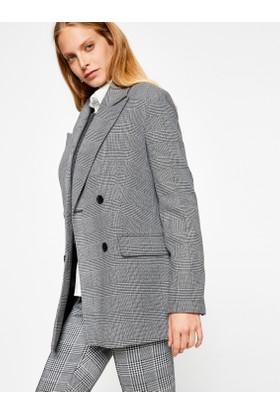 Koton Kadın Cep Detaylı Klasik Ceket Gri
