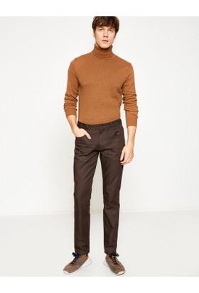 Koton Erkek Cep Detaylı Pantolon Kahverengi