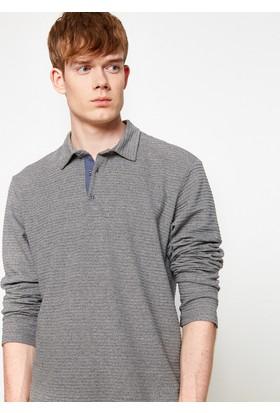 Koton Erkek Polo Yaka T-Shirt Gri